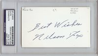 Nellie Fox Signed 3x5 Index Card (PSA/DNA)