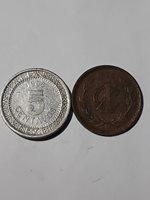 Mexico 2pc Lot 1906 5c KM421 & 1906 Centavo Wide Date KM415