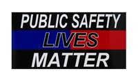 "Public Safety Lives Matter Thin Blue Red Line Vinyl Bumper Sticker (3.75""x7.5"")"