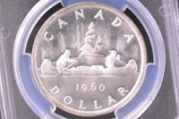 1960 Canadian Silver Dollar PCGS PL65