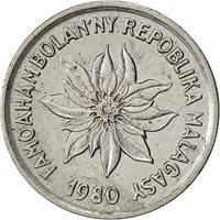 Madagascar, Franc, 1980, Paris, EF(40-45), Stainless Steel, KM:8