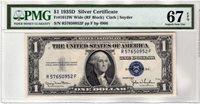 Fr.1613W $1 1935 D R-F Block Wide PMG Superb GEM Uncirculated 67 EPQ