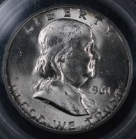 1961-D 50C Franklin Half Dollar Uncirculated - PCGS MS 64