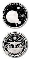 Marshall Islands First Manned Orbit of the Moon 1968 $50 1989 Proof Silver Crown
