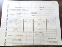 JAN. 1900 POST OFFICE PO OFFICIAL ORDER FORM FOR STAMPS 3RD asst. PM GENERAL
