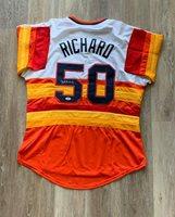 J.R Richard autographed signed jersey MLB Houston Astros PSA COA