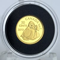 2013 Owl Shaman Holding Goose 1/25 oz. Fine Gold 50-cent Inuit Art, Only 5,736