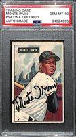 Monte Irvin Signed 1951 Bowman Rookie Card #198 (PSA/DNA Encased w. 10 GEM MINT auto grade!)