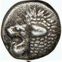 Ionia Miletos 6th-5th centuries BC silver obol Lion & Stellate design NGC XF
