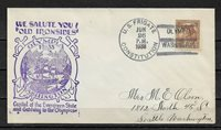 1933 Cachet Cover Olympia,Ship Cancel Frigate USS Constitution,VF USED (RN-6) L2