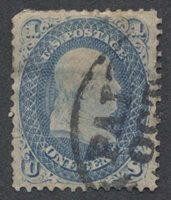 United StatesScott #63 (2014 Scott Value $52.50), Used, Fine-very fine 3c with faults & PAID in circle cds.Stamp #49121 | Price: $15.00Add To Cart