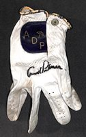 ARNOLD PALMER AUTOGRAPH SIGNED VINTAGE GAME USED WORN GOLF ADP GLOVE BECKETT BAS