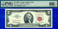 FR-1513* 1963 $2 US Note *** STAR *** PMG Gem-Uncirculated 66EPQ # *00062971A.
