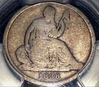 1838-O Seated Dime PCGS G6 Nice Type Scratch-Free Holder CHN!