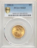 PCGS MS64 US Gold $5 Liberty Head Eagle Random Date