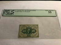 FR-1243 .10c FRACTIONAL CURRENCY Straight Edges w/o Monogram PCGS 55