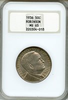 1936 Robinson Half Dollar NGC MS65 Commemorative 50c (220304-018)