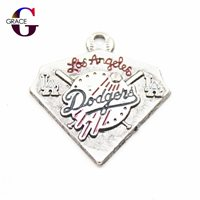 Los Angeles Dodgers Baseball Team Sports Hanging Dangle Floating Charms For Women 20pcs