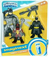 New IMAGINEXT DC COMICS JUSTICE LEAGUE SUPER FRIENDS BATMAN & FIREFLY