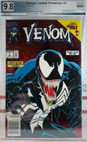 PGX 9.8 NM+ VENOM LETHAL PROTECTOR #1 WP RED FOIL NEWSSTAND VARIANT 1993 CGC