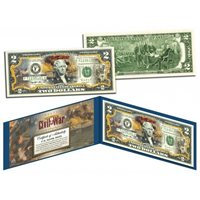 American CIVIL WAR - Battle of Fort Sumter - Official Legal Tender $2 U.S. Bill