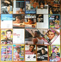 LEONARDO DICAPRIO spain clippings 1990s magazine articles covers poster Titanic