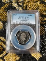 New Caledonia 10 Francs 1967 Essai PCGS SP68