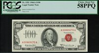 "1966A $100 Legal Tender FR-1551 - ""Red Seal"" - PCGS 58PPQ - Choice About New"