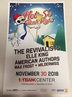 REVIVALISTS - ELLE KING Not So Silent Night 2018 1st Bank Colorado Promo Poster
