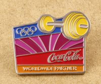 Greece Athens 2004 Olympic Games Coca-Cola Pin Weight Lifting