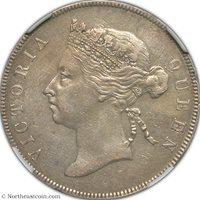 1895 50 Cents British Honduras NGC XF Details British Honduras