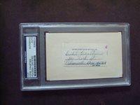 Estel Crabtree 1933, 41-42 Cardinals PSA/DNA certified cut signature d.1967