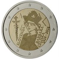 "2014 Slovenia €2 Coin Issue ""Coronation of Barbara of Cilli 600 Years"""