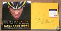 Lance Armstrong COMEBACK 2.0 Signed Book COA - PSA/DNA Certified - Autographed Sports Magazines