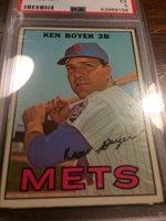 1967 Topps #105-Ken Boyer Mets Cardinals PSA EX 5~ Nicely Centered!Free Shipp