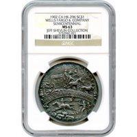 So-Called Dollar - 1902 Wells Fargo & Co. Semicentennial Medal HK-296 NGC MS63 Ex.Shevlin