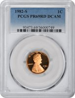 PR69RD DCAM PCGS 1976-S Lincoln Cent