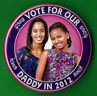 "2012 Barack Obama 2.25"" /""Vote For Our Daddy"" Presidential Campaign Button(xmas)"
