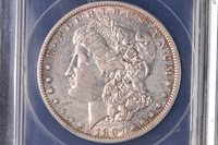 1897 O Morgan Dollar ANACS AU50