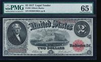 AC Fr 58 1917 $2 Legal Tender PMG 65 EPQ gem uncirculated !!