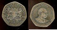 Kenya 5 shillings 1994 AU+