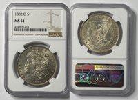 1882- O $1 Morgan Dollar NGC MS6-013