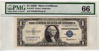 Fr.1615 $1 1935 F S-I Block PMG GEM 66 EPQ