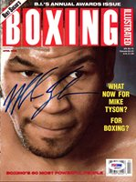Mike Tyson Autographed Boxing Illustrated Magazine Cover Vintage PSA/DNA #Q65527Mike Tyson Autographed Boxing Illustrated Magazine Cover Vintage PSA/DNA #Q65527