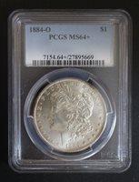 1884 O Morgan Silver Dollar PCGS MS 64+