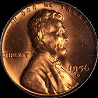1954-S NGC MS66 RED Lincoln Wheat Cent! #KG