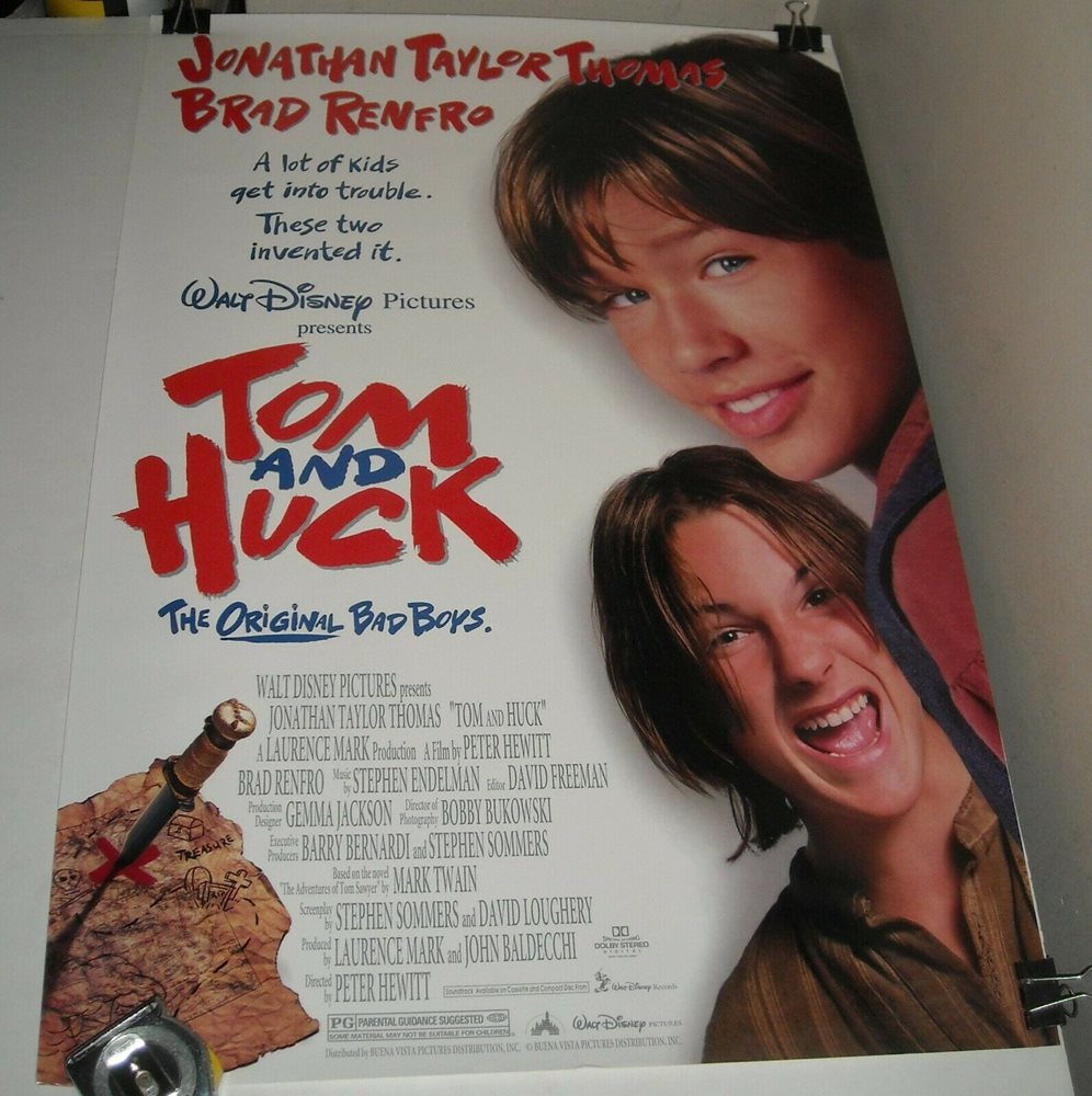 Rolled Walt Disney Tom And Huck Movie Poster Jonathan T Everyone on the family tree. collectors com