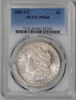 1882-CC PCGS MS66 * Carson City Gem * #84149269