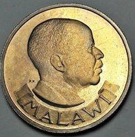 1964 MALAWI 6 PENCE PROOF TONED BU UNC BEAUTIFUL COLOR GEM (DR)