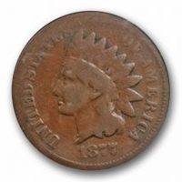 1877 1C Indian Head Cent PCGS G 4 Good Key Date CAC Approved Cert#1495